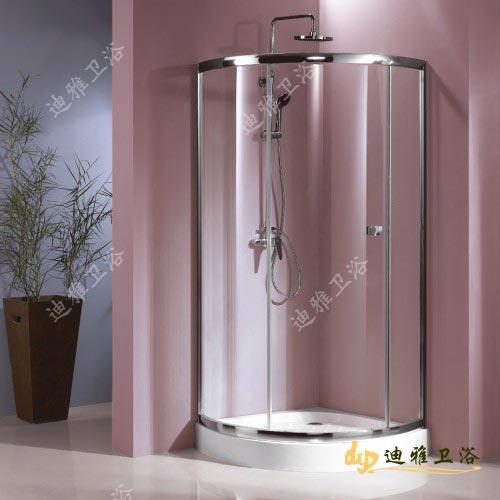 Bathroom sliding door glass-house arc shaped sliding door bathroom partition shower room(China (Mainland))