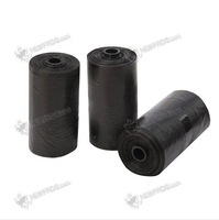 Free shipping 40 Roll Black Pet Poop Bags Dog Cat Waste Pick Up Clean Bag a Roll of 20 Bags