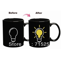 Wholesale High Quality Bulb Color Changing Cup Amazing Ceramic Cup Coffee Cup Temperature Changing Free shipping
