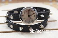 free shipping Rivet punk bracelet strap fashion vintage table long strap bullet rivet female watch