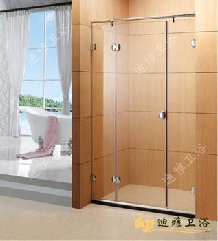 Simple shower room partition stainless steel hinge the door bathroom tempered glass door customize  /Adjust shipping  fee