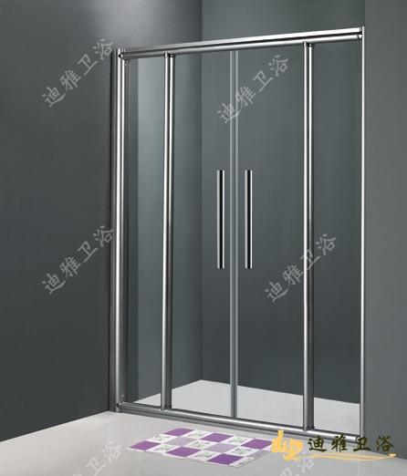 Simple salle de douche cloison de verre double porte for Cloison salle de bain verre