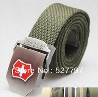 Free Ship V soyle thickened stretched canvas belt with metal buckle Outdoor sports airsoft tactical Leisure waistband