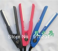 New Mini Portable Ceramic Hair Straightener Curler Iron Free shipping