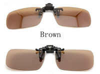 New arrival wholesale Brown  Polarized clip on sunglasses/ flip up driving sunglasses/polarized night vision driving glasses