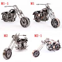 New manual iron art mini motorcycle model home decor parlour decoration metal gift children toy medium-sized free shipping