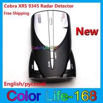 Hot sale!-Made in china Cobra Radar Detector XRS 9345 14 band Car Radar detector Free Shipping