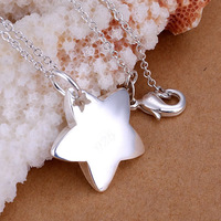 Free Shipping 925 Silver fashion jewelry Necklace pendants Chains, 925 silver necklace Star in Star fall doxj tpfk