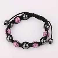 Shamballa jewelry Wholesale, free shipping, New Shamballa Bracelets Micro Pave CZ Disco Ball Bead Shamballa Bracelet ckqj dnck