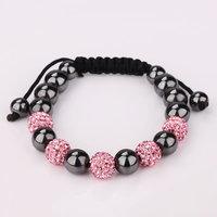 Shamballa jewelry Wholesale, free shipping, New Shamballa Bracelets Micro Pave CZ Disco Ball Bead Shamballa Bracelet qssc lgul
