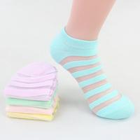 Free shopping women 100% cotton socks fashion stripe sock female slippers socks