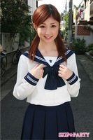 Long-sleeve sailor collar big bow long-sleeve sailor suit cos student uniform 034