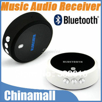Portable Mini Bluetooth 3.0 + EDR Music Mic Audio Receiver Partner For iPod iPad iPhone 4S 5G Free Shipping Drop Shipment