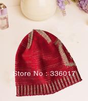 100% acrylic knit jacquard hat custom hats