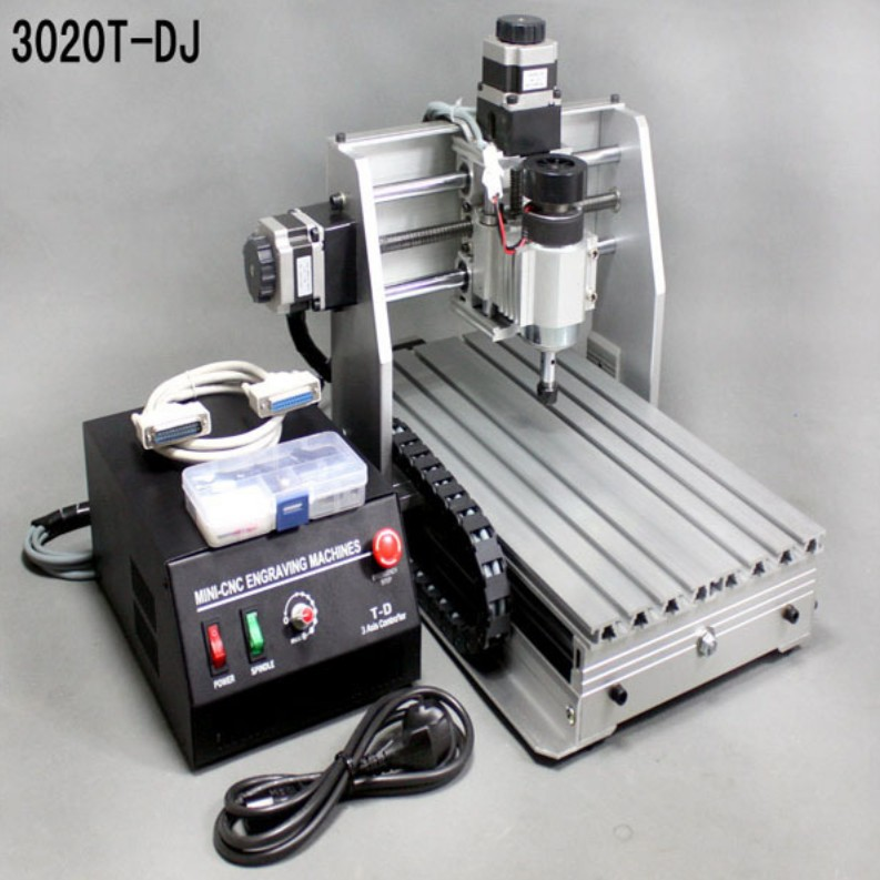 DHL shipping mini desktop engraving machine CNC 3020T-DJ upgrade from 3020T 3020 Router Engraver Milling Drilling Machine(China (Mainland))