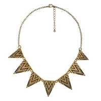 Min order is $10 fashion accessories punk vintage decorative pattern triangle geometry necklace