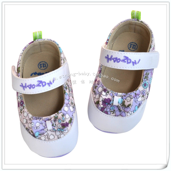 Purple princess shoes soft outsole toddler shoes spring and summer baby girl