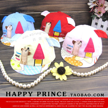 Small house style mesh cap baby hat cap