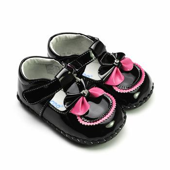 Genuine leather brief elegant bow baby shoes freycoo 1073