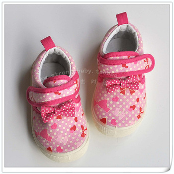Spring and autumn bow princess shoes soft outsole outdoor shoes princess shoes