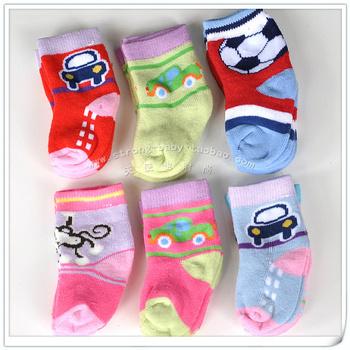 Multicolor baby thick loop pile socks newborn socks loop pile baby socks 0 - 6 baby
