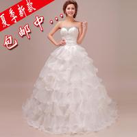2013 qi in wedding tube top handmade beading bandage wedding dress sweet princess bride wedding dress