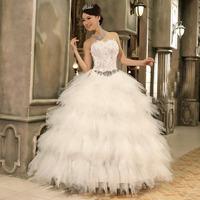 Princess bride wedding dress marriage fashion tube top feather puff skirt