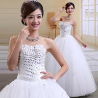 2013 bride wedding formal dress fashion tube top princess classic