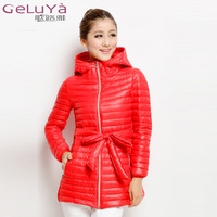 3XL EMS FREE SHIPPING 2013 medium-long  winter jacket slim chunky down coat women down jackets