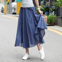 Is women's summer 2013 beach dress expansion skirt plus size half-length full dress female bust skirt