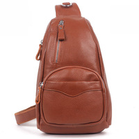 2013 New arrival vintage genuine leather women's casual chest pack lady''s small cowhide hiking or hang out shoulder bag