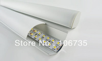 Free shipping by Fedex MOQ 10m NEW DESIGN aluminium corner led strip light profile with opal, clear, semi-clear cover, end caps