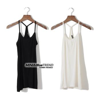 Fashion cotton slim basic small vest small vest