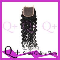 5x5 Brazilian Virgin Deep Wave Hair Lace Closure, No Sheding Tangle Free Natural Color can or bleach, 10 12 14 16 18