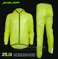 New Arrival Cycling Bike Bicycle Raincoat Rain Coat  & Rain Pants Lime Green