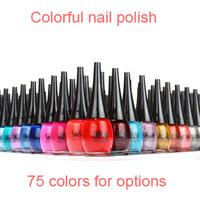 Free shipping Wholesale & retail original SHISEM nail polish 12pcs/lot 15ml quick-drying 75 colors available