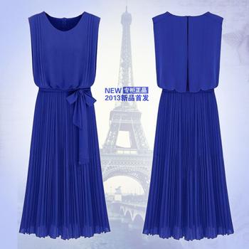 2013 one-piece dress fashion formal dress full high quality bohemia chiffon one-piece dress