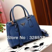 Brand Designer Handbags Double Layer Zipper Handbags Fashion PU Leather Bags
