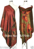 Free Shipping Double-Side Butterfly New Style Women's Pashmina Shawl/Scarf Wrap