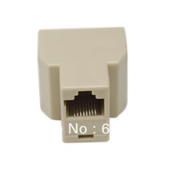 Free shipping RJ45 Network Lan Splitter Extender Connector Plug