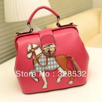 Hot Sale Lovely Handbags Little Hourse Messenger Bags Cartoon Pattern Fashion Designer Handbags