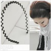 Min. order $9 General wavy hair bands headband - black hair accessory TS042