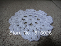 Free shipping wholesale 8cm handmade Crochet Doily  round cup mat mixed colors 50pcs/lot