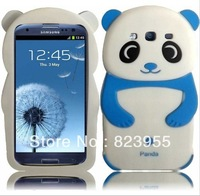 Free shipping new Cute Panda Baby Silicone Skin Soft Case Back Cover for Samsung Galaxy S3 i9300 5pcs/lot