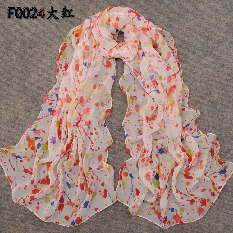 free shipping 2013 spring and summer women's super smooth long faux silk scarf lady's female spring and autumn chiffon scarf(China (Mainland))