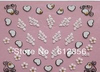 200 Sheets/Lot Design Tip Nail Art Sticker 3D Decal Manicure Mix Color Flower Free Shipping