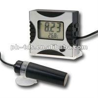 Portable Digital pH Meter Tester Monitor Detachable Replaceable Electrode & Mounting Bracket 0.00 -14.00 pH Range + Built in ATC