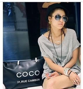 Hot 2013 women's handbag casual all-match fashion bag letter bag coco handbag shopping bag(China (Mainland))