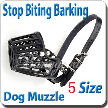 Black 5 Sizes Plastic Adjustable Pet Dog Muzzles Cage Safety Mask Anti-bite Mouth Mesh Cover Basket Free Shipping Wholesale