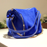 New & Hot ! Fashion bags 2013 women's nubuck leather patchwork handbag one shoulder cross-body handbag